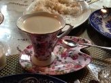 Don't be fooled by the white foam and dainty china - this Batangas-grown coffee has quite a kick!