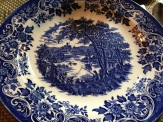 Blue Willow China Dinner Plate