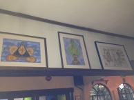 Paintings created by eminent Filipino author and food critic, Gilda Corder-Fernando.